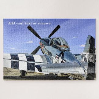 Militaire foto van een de vechtersvliegtuig van puzzel