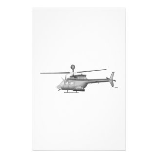 Militaire Helikopter Briefpapier