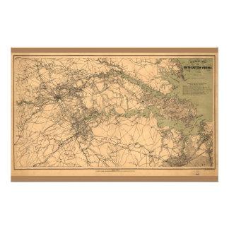 Militaire Kaart van Zuidoostelijk Virginia (1864)