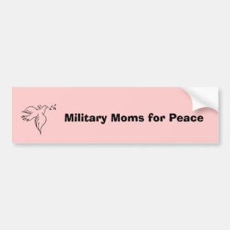 Militaire Mamma's voor Vrede Bumpersticker