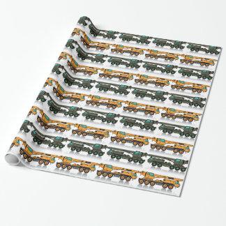 Militaire zware kraanvrachtwagen inpakpapier