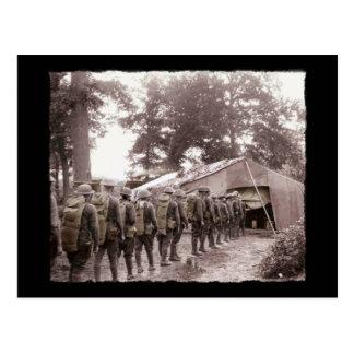 Militairen in Lijn voor Post Briefkaart