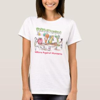 Miljoenen van Veggies van Franken tegen T-shirt