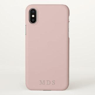 Millennial Roze iPhone met monogram X het Hoesje