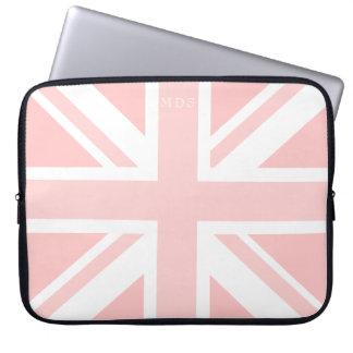Millennial Roze Laptop van de Vlag van Union Jack Computer Sleeve