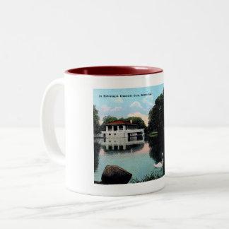 Millwaukee, Wisconsin, Humboldt Park, Wijnoogst Tweekleurige Koffiemok