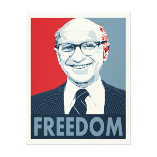 Milton Friedman Canvas Afdruk