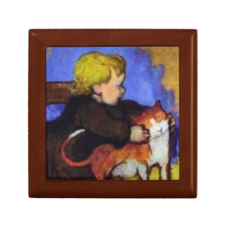 Mimi en Haar Kat door Paul Gauguin Decoratiedoosje