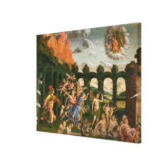 Minerva die de Ondeugden achtervolgt Canvas Prints