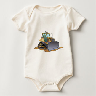 Mini Bulldozer Baby Shirt