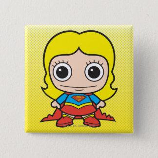 Mini Supergirl Vierkante Button 5,1 Cm