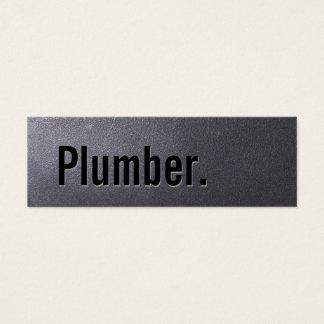 Mini van de Steenkool van de loodgieter Zwarte Mini Visitekaartjes
