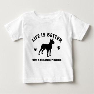 Miniatuur Pinscher hondontwerp Baby T Shirts