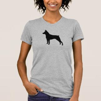 Miniatuur Silhouet Pinscher T Shirt