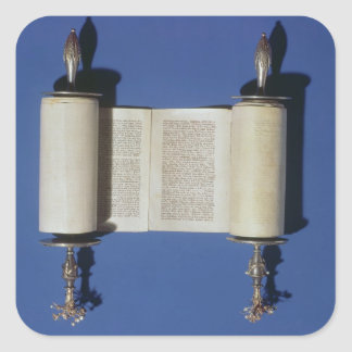 Miniatuur Torah Rol, 1765 Vierkante Sticker