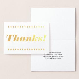 """Minimaal, Fundamenteel & Eenvoudig """"Bedankt!"""" Folie Kaarten"""