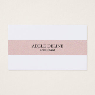 Minimaal Schoon Bord - het roze Wit van de Streep Visitekaartjes