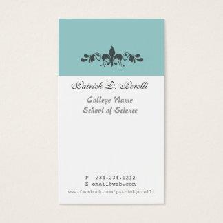 Minimale Blauwe Witte Modern fleur-DE-Lis van de Visitekaartjes