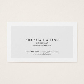 Minimale Eenvoudige Elegante Lichtgrijze Witte Visitekaartjes