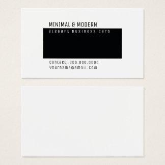 minimale & moderne elegante minimalistisch visitekaartjes
