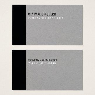 minimale & moderne elegante zwart/grijs visitekaartjes
