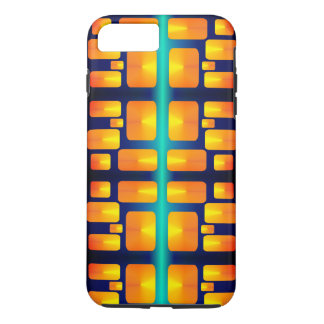 Minimalism Abstracte Aqua en Helder Sinaasappel iPhone 8/7 Plus Hoesje