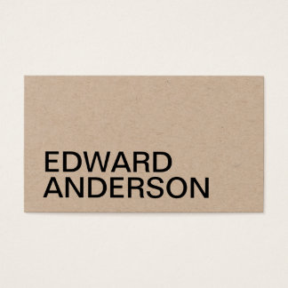 Minimalistisch kraftpapier professioneel visitekaartjes