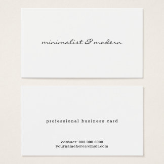 minimalistisch manuscript modern professioneel wit visitekaartjes