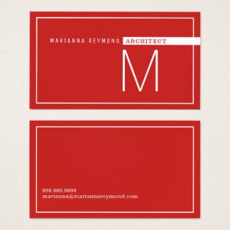 minimalistisch & modern, architectenrood visitekaartjes