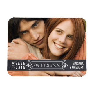 Minimalistisch sparen de moderne het huwelijksfoto vinyl magneet
