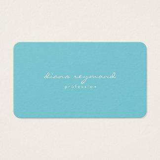 minimalistisch vrouwelijk professioneel turkoois visitekaartjes