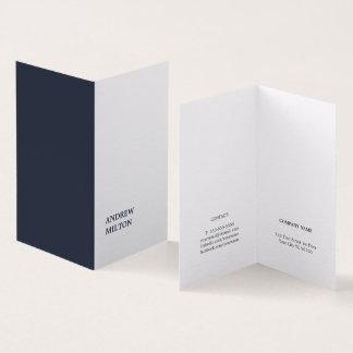 Minimalistische Eenvoudige Elegante Blauwe Witte Kaart 0