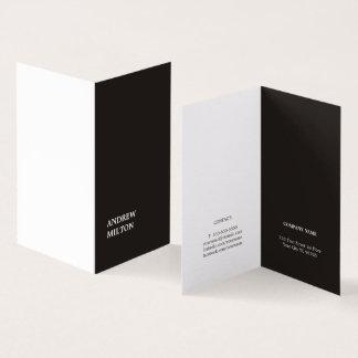Minimalistische Eenvoudige Elegante Zwarte Witte Visitekaartje