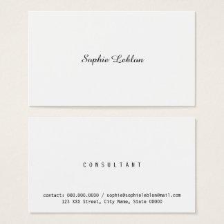minimalistische elegante bedrijfsvrouw visitekaartjes