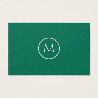 Minimalistische Elegante Groene Fles Met monogram Visitekaartjes