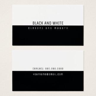 minimalistische elegante moderne zwart-wit visitekaartjes