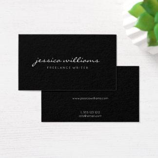 Minimalistische Elegante Zwarte Visitekaartjes