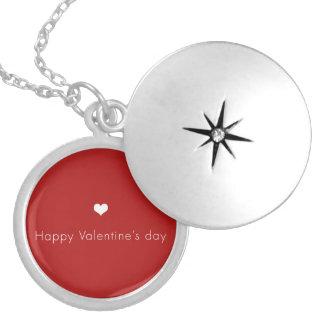 minimalistische Gelukkige Valentijnsdag Locket Ketting