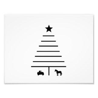 Minimalistische Kerstboom Foto Kunst