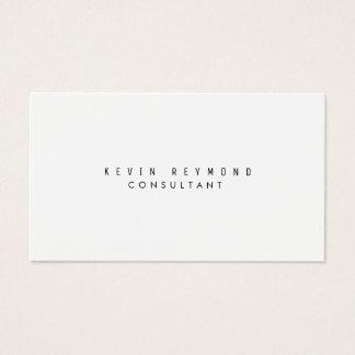 minimalistische moderne witte basisberoeps visitekaartjes