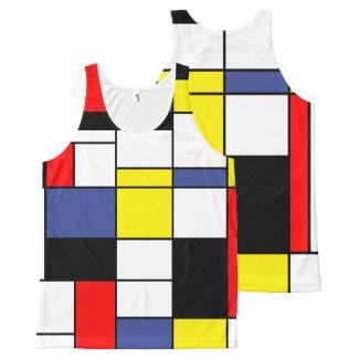 Minimalistische Mondrian, All-Over-Print Tank Top