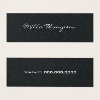 minimalistische naam & contact-telefoon dark mini visitekaartjes