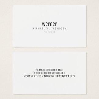 minimalistische professionele elegante eenvoudige visitekaartjes