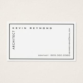 minimalistische professionele elegante witte visitekaartjes