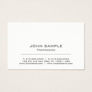 Minimalistische Professionele Moderne Wit en Grijs Visitekaartjes