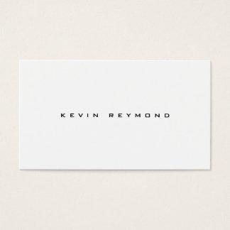 minimalistische zwart-witte elegant visitekaartjes