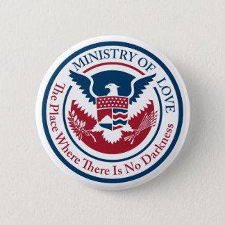ministerie van liefde, officiële verbinding ronde button 5,7 cm