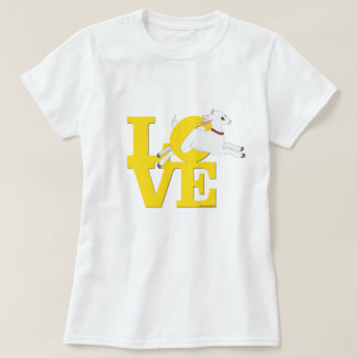 MINNAAR   GELE Geit L O V euro van de GEIT - Witte T Shirt