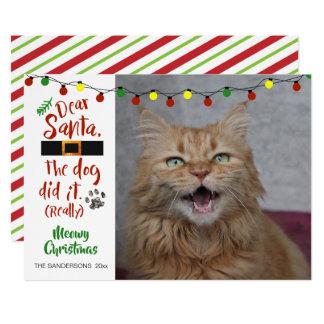 """Minnaars van de kat, """"Beste Kerstman, de Hond Kaart"""