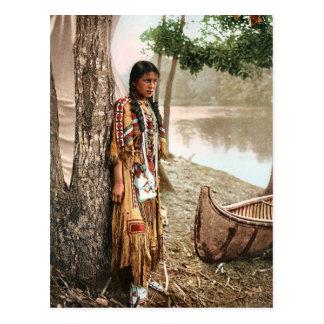 Minnehaha 1897 Vintage Inheemse Amerikaanse Briefkaart